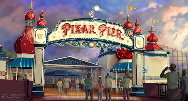 Pixar Pier marquee concept art