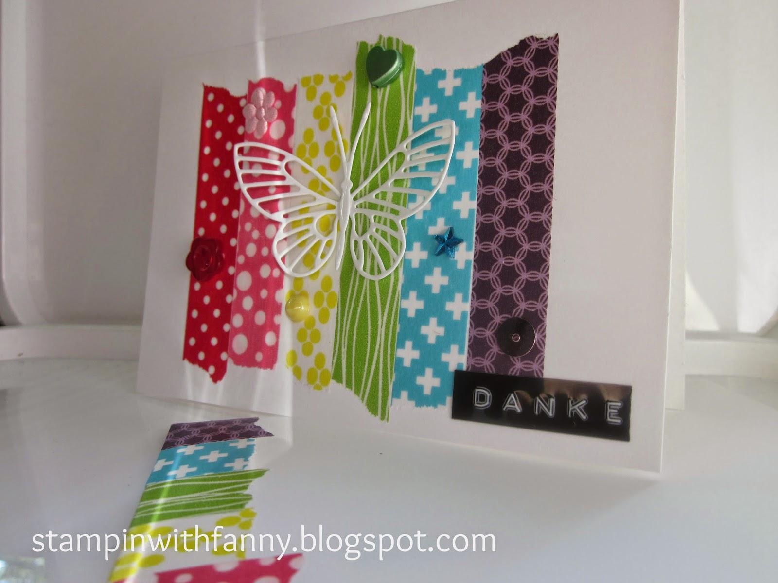 stampin with fanny ganz viele bunte washi tape karten. Black Bedroom Furniture Sets. Home Design Ideas