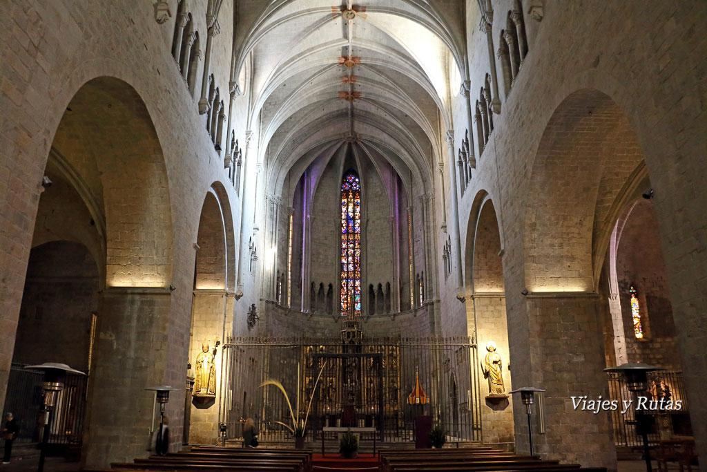 Interior de la Basílica de San Felix, Girona
