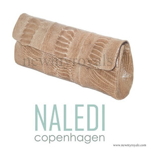 Crown Princess Mary style Naledi Copenhagen NB11 Brushed Ostrich Clutch