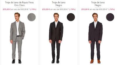 trajes moschino baratos