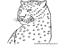 cute baby cheetah coloring pages