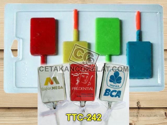 Cetakan Coklat TTC242 Kotak Flat Polos Edible