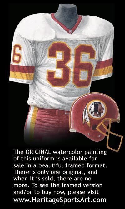 wholesale dealer 52524 0a3c7 Washington Redskins Uniform and Team History | Heritage ...