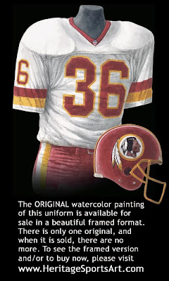 Washington Redskins 1991 uniform