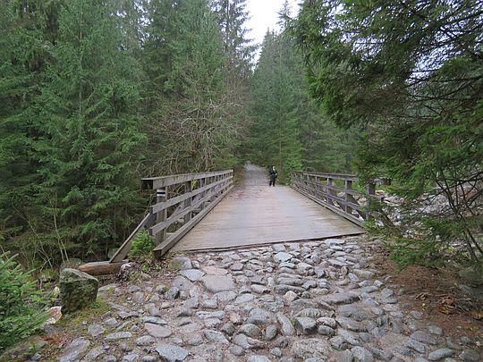 Pierwszy most nad Suchą Wodą.