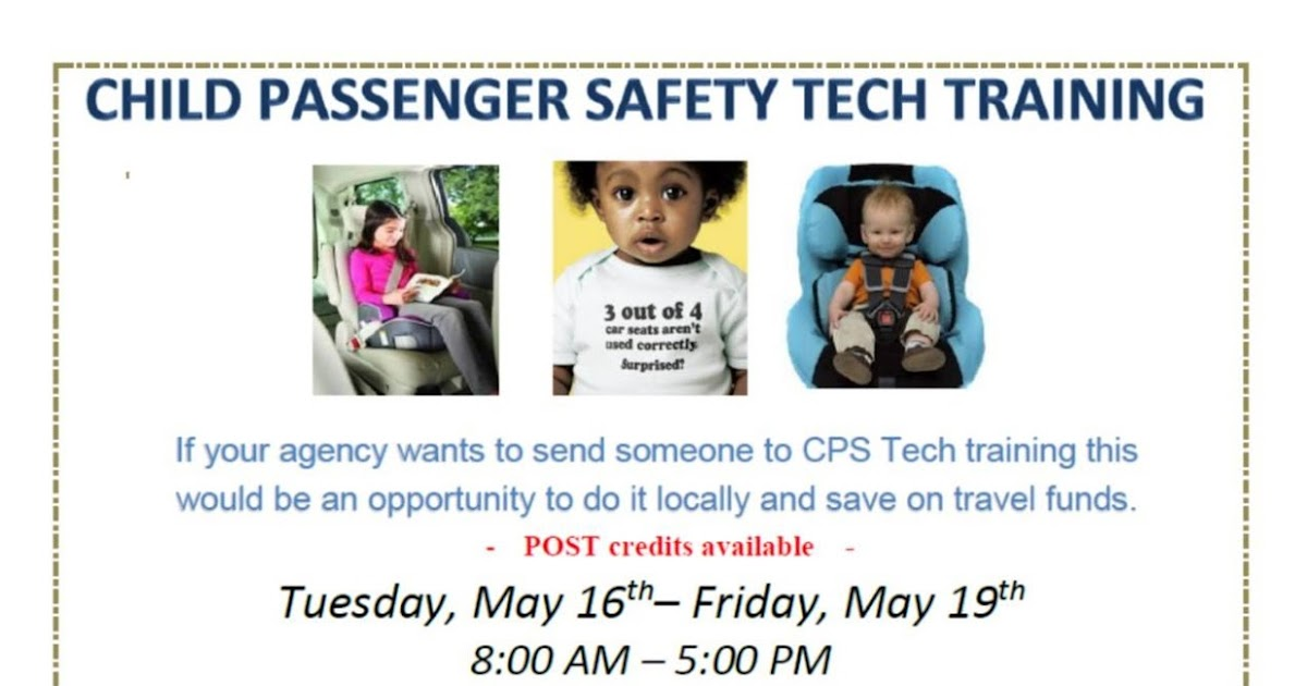 Car Seat Technician Training