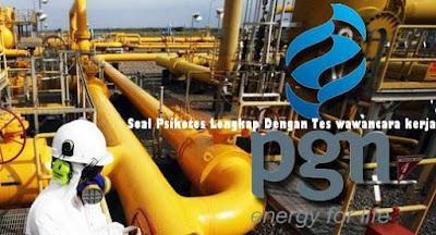 Soal Psikotes penerimaan di PT Perusahaan Gas Negara Tbk(PGN)