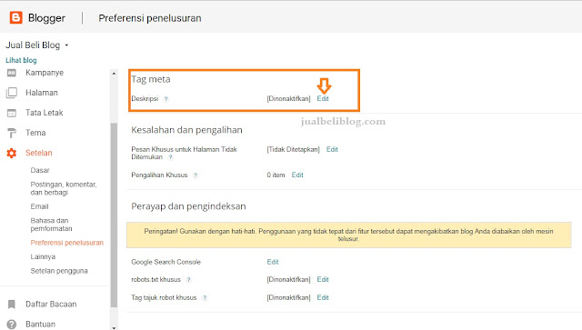 SEO On Page tentang Meta Tag