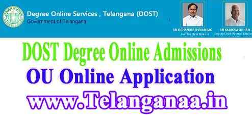 OU Degree Online Admissions 2019 dost Osmania University Degree Online Services Telangana