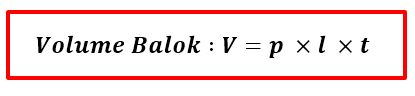 Gambar: Rumus Volume Balok