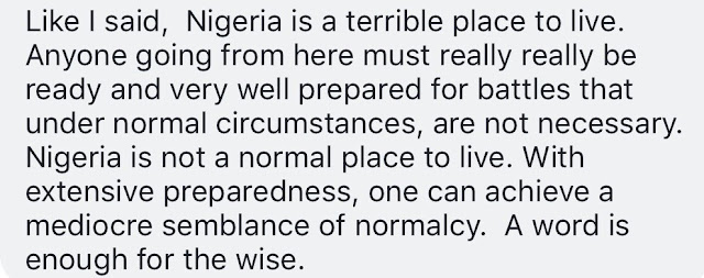 """Nigeria is a terrible place to live"" - Says man planning to relocate after 30 years in the US"