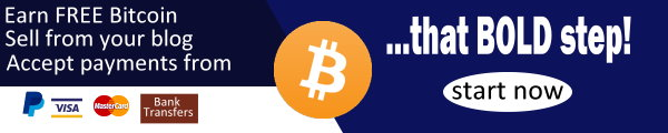 Earn FREE bitcoin. Sell on your blogs. Accept payment from PayPal, Visa, Mastercard, Bank Transfers