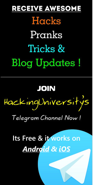 hackinguniversity's telegram channel