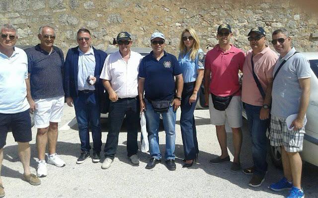 Μέλη της Διεθνής Ένωσης Αστυνομικών Κύπρου επισκέφθηκαν το Ναύπλιο