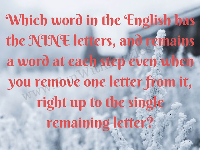 Tricky English Riddle