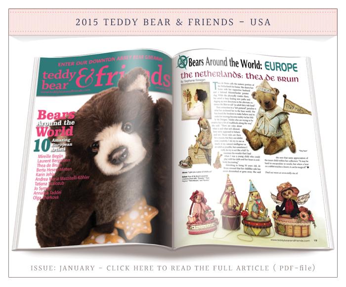 2015 Teddy Bear & Friends Issue January