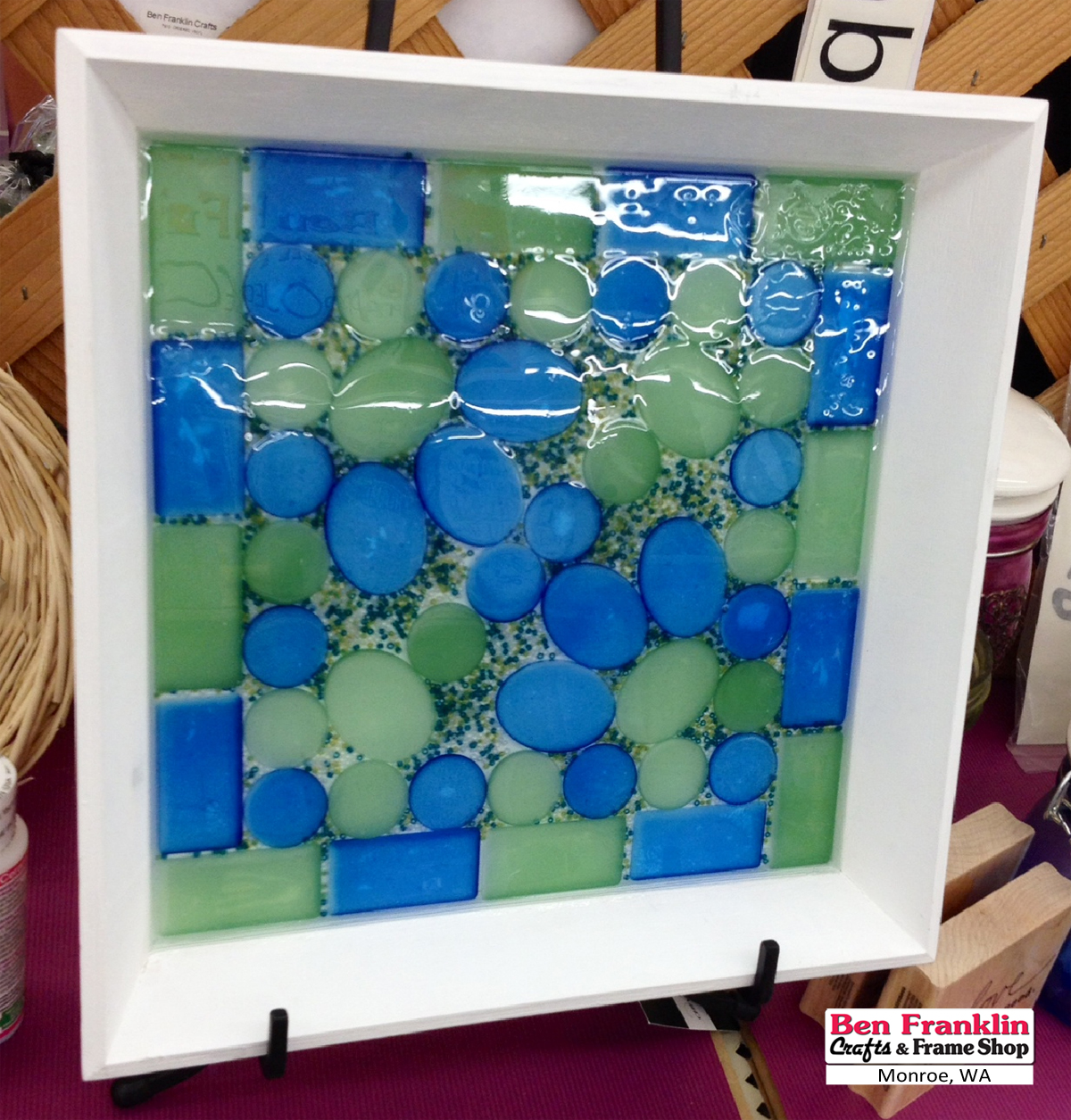 Ben Franklin Crafts and Frame Shop, Monroe, WA: DIY Sea Glass Tile Tray