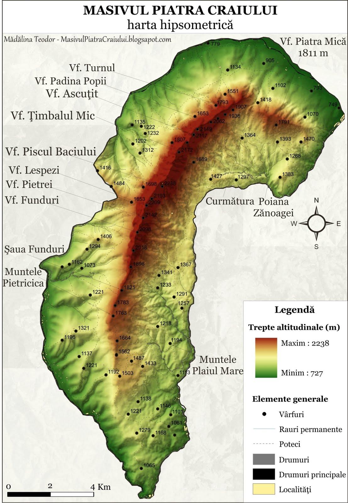 Masivul Piatra Craiului 2 Analiză Gomorfologică