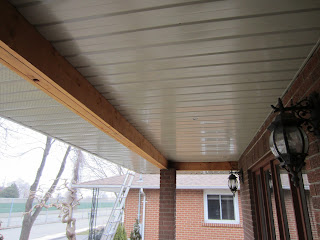 Front porch needs capping on wooden beam
