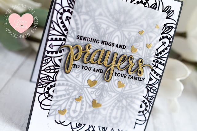 Sending Hugs and Prayers Sympathy Card