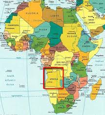 Africa Map Angola.Angola On Map Of Africa Map Of Africa
