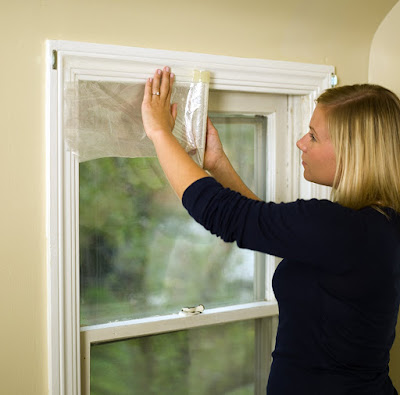 how to install window insulation, save money on heating bills