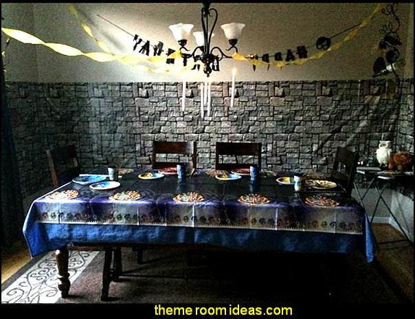 Harry Potter Party Supplies – Happy Birthday Banner Felt Garland Party Decoration, Black