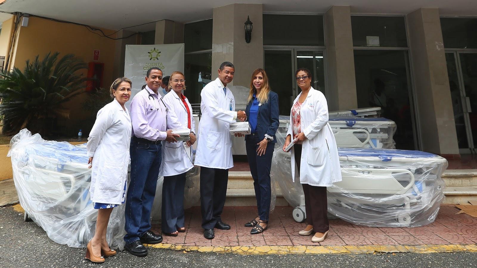 DPD dona equipos al Hospital Materno Infantil Santo Socorro del ensanche La Fe