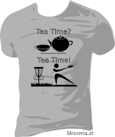 Tea Time? Tee Time? Disc Golf Shirt