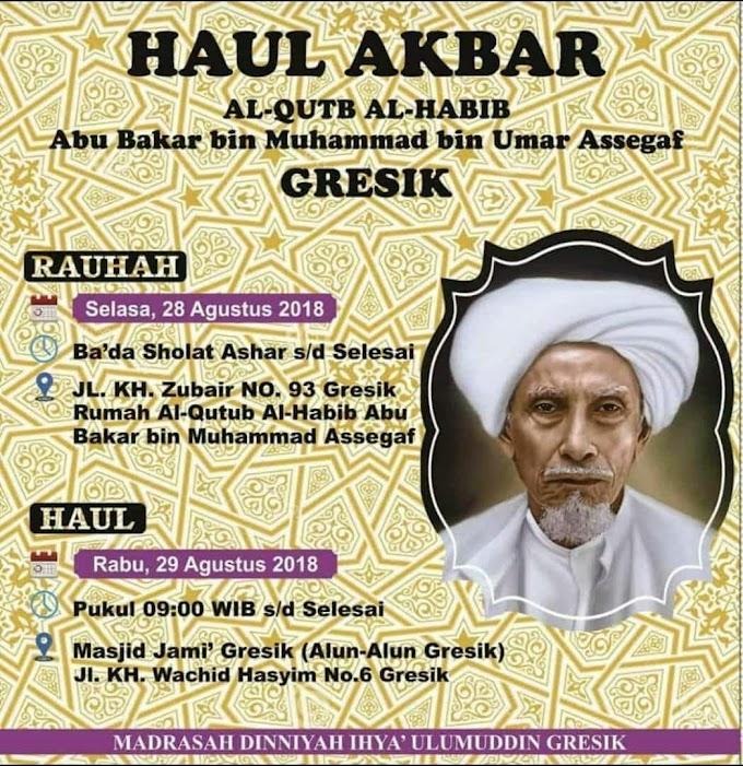 Info Haul Habib Abu Bakar Assegaf Gresik 2018