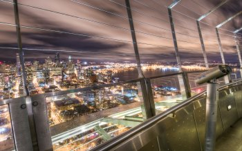 Wallpaper: City view from Seattle Space Needle