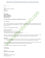 Date of Birth Change in Bank Account - Formal Letter to Bank (sample)
