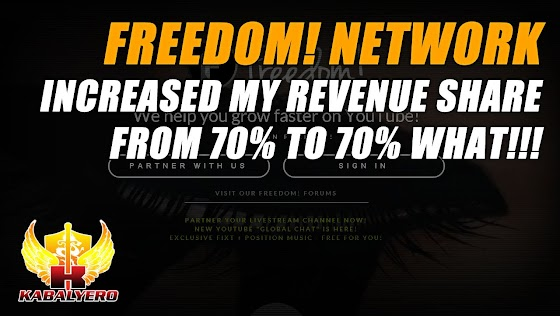 Freedom! Network Increased My Revenue Share From 70% To 70% WHAT!!!