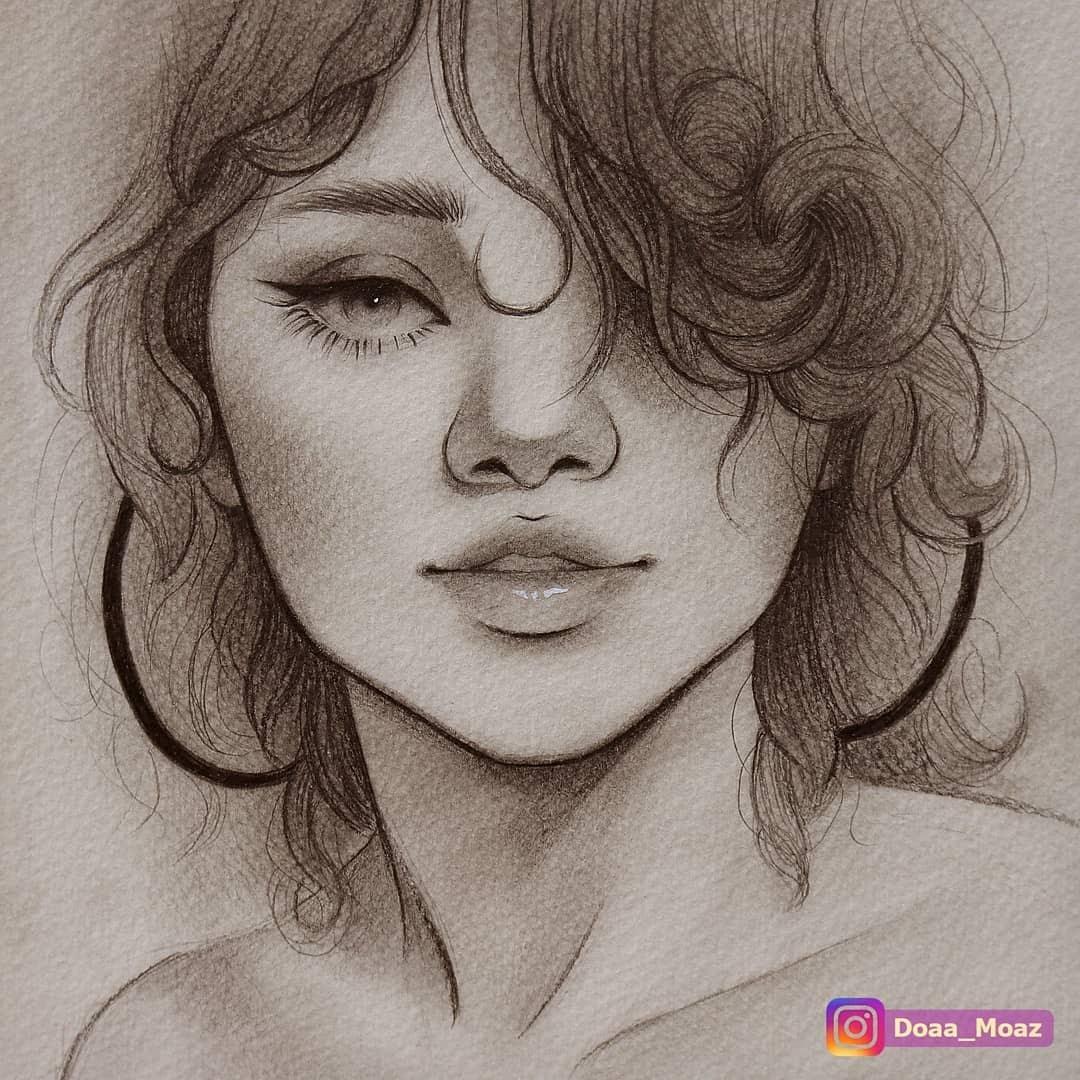 04-Doaa-Moaz-Female-Portrait-Drawings-www-designstack-co