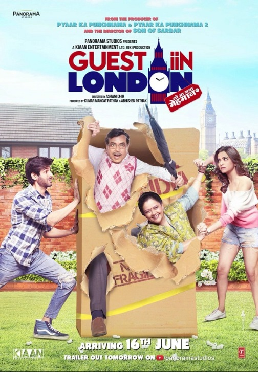 full cast and crew of Bollywood movie Guest Iin London 2017 wiki, Paresh Rawal Tanvi Azmi Kartik Aaryan, Guest Iin London story, release date, Atithii Iin London Actress Kriti Kharbanda poster, trailer, Video, News, Photos, Wallapper