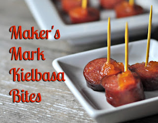 Looking for a party food that is sweet, tangy, with a little kick to start off a gathering or get together?  Look no farther than this post.  Maker's Mark Kielbasa Bites are the perfect combination of yum and wow!