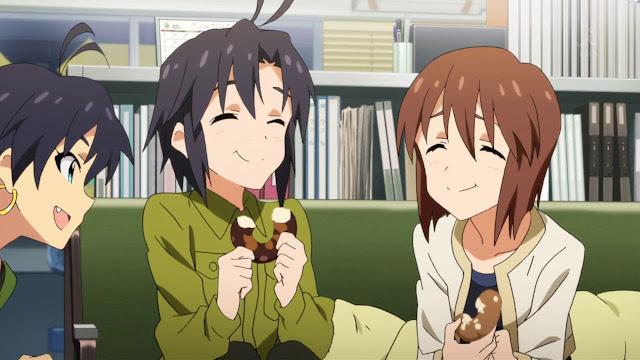 Delektowanie się pączkami w anime