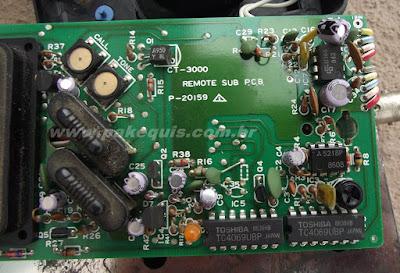 Super Fone CT3000N detalhe da placa