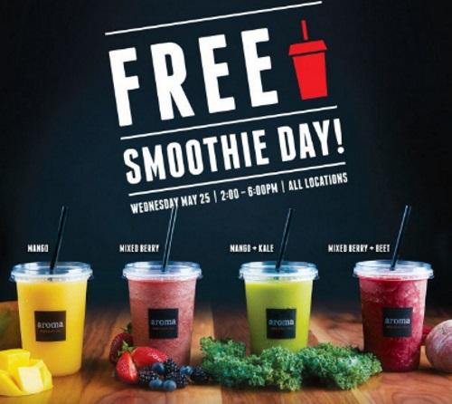 Aroma Espresso Bar Free Smoothie Day