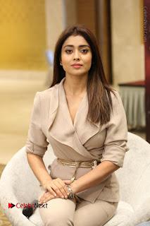 Actress Shriya Saran Stills in Stylish Dress at Gautamiputra Satakarni Team Press Meet  0067.JPG