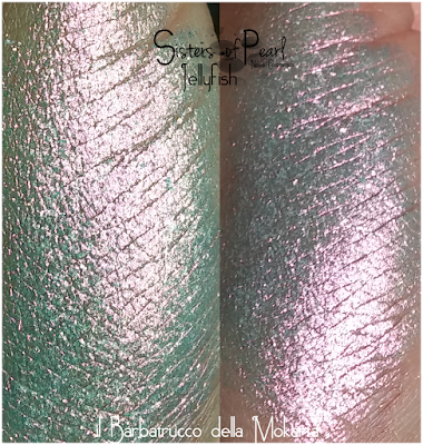 Jellyfish eyeshadow swatches Sisters Of Pearl  Neve Cosmetics