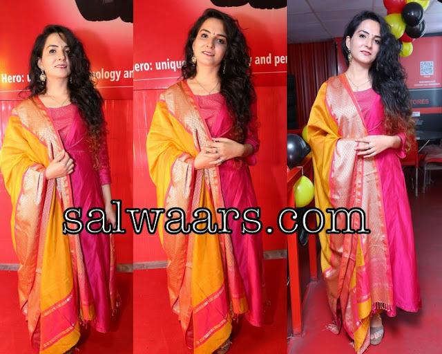 Neeru Singh Pink Silk Salwar