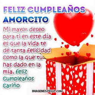 Feliz Cumpleaños Amorcito cariño