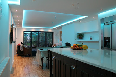 decorative led indirect ceiling lighting for modern kitchen