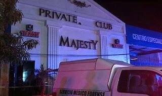 BALACERA en el centro nocturno Private Club Majestic de Acapulco Guerrero