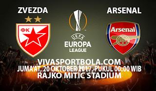 Prediksi Crvena Zvezda vs Arsenal 20 Oktober 2017