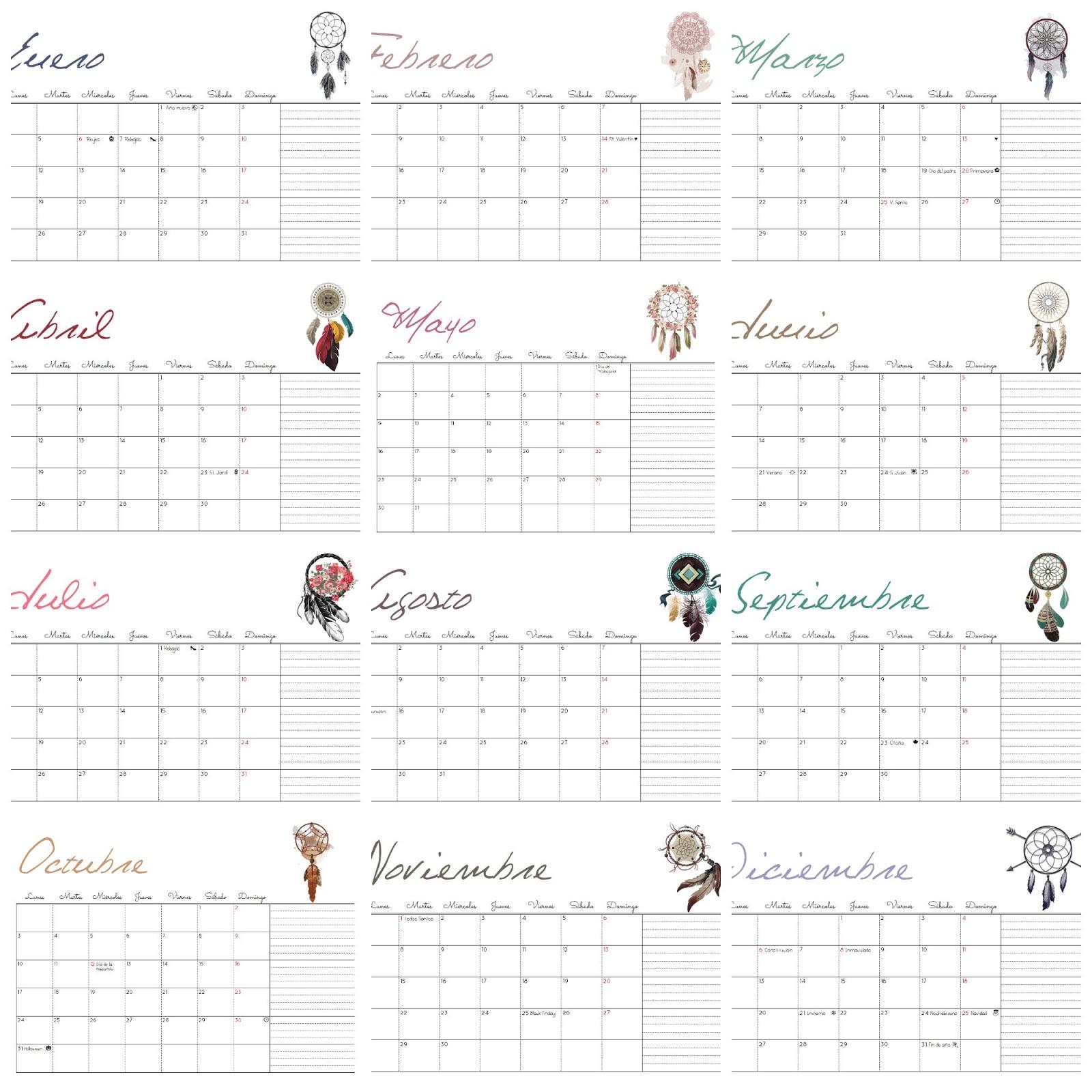 Calendario Mensual Mr Wonderful.Marthibis Calendario 2016