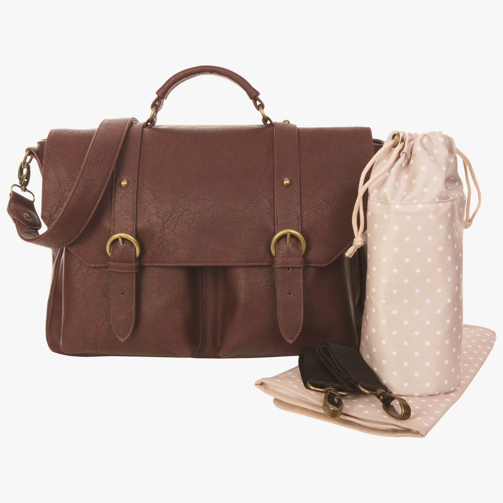 Leather Satchel Changing Bag
