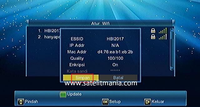 Cara Setting Koneksi Wifi Receiver Matrix Burger S8 HD